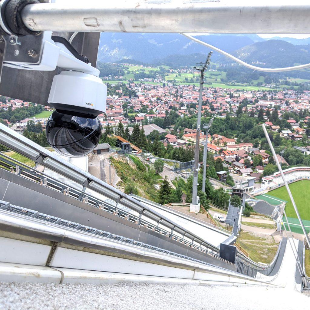 Hinterkamera_Kamerasystem in Oberstdorf_Skispringen