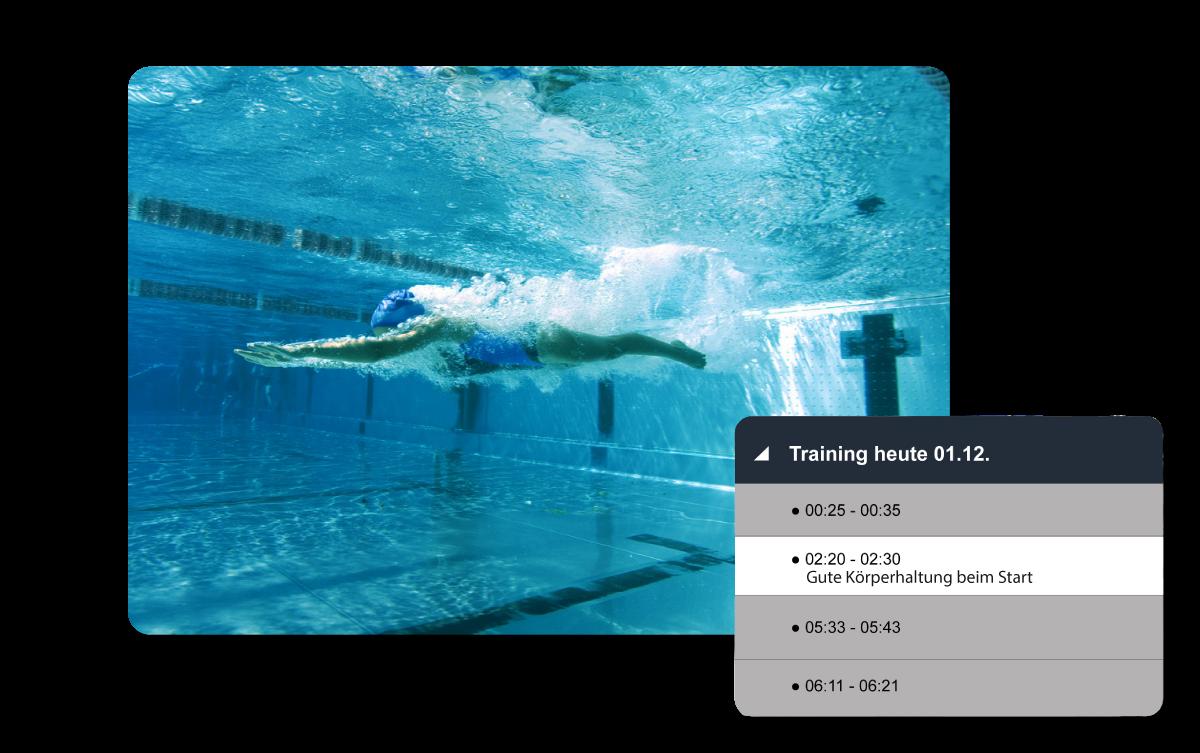 Videoanalyse im Wasser_Training und Performance verbessern
